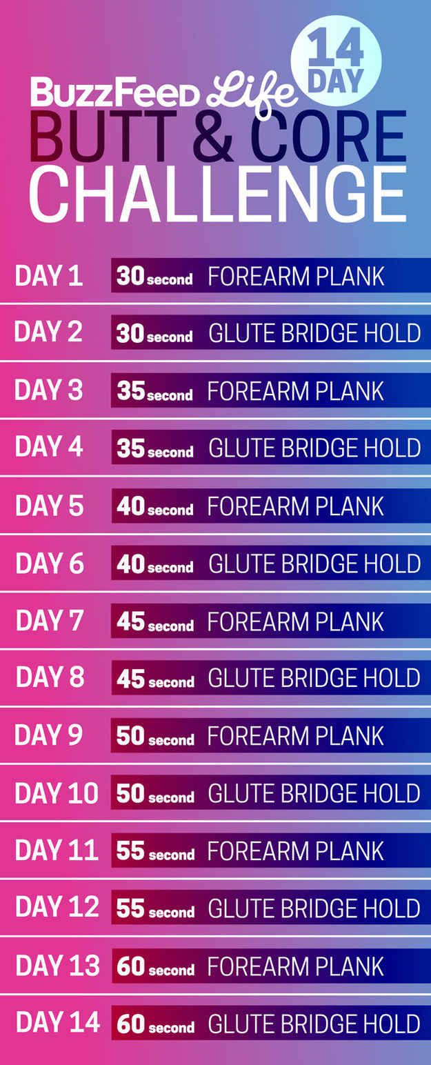 Take BuzzFeed's 14-Day Butt And Core Challenge