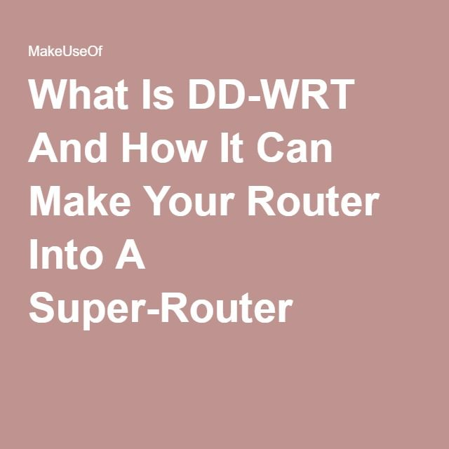 how to make a router into a drother