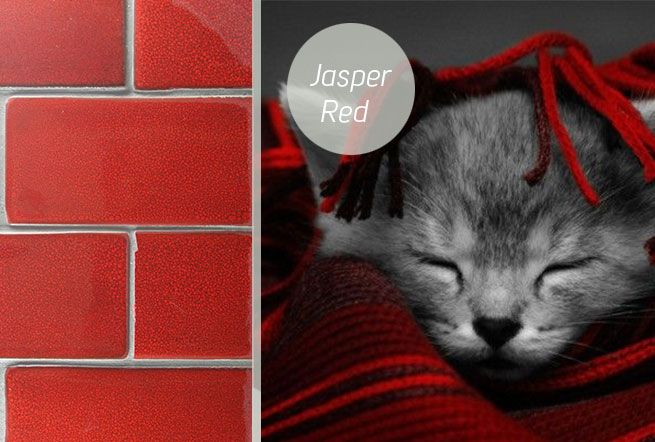 Jasper Red Glazed Subway Tiles. Made in New Zealand by Middle Earth Tiles.