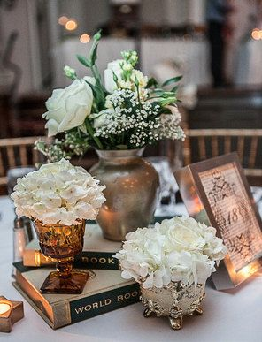 Vintage Book Inspired Wedding Table Numbers by civvies on Etsy, $25.00