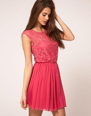 pink lace dress, it's gorgeous!