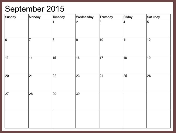September  Calendar With Holidays Template Download A Blank
