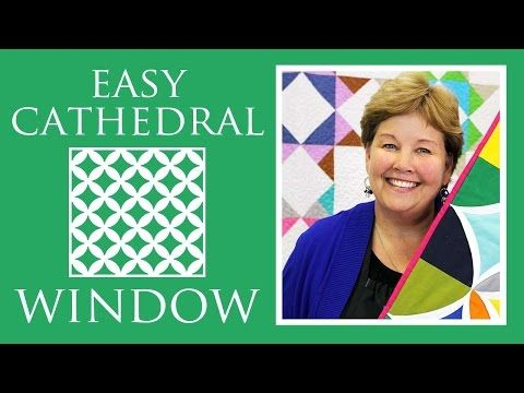 Easy Cathedral Window Quilt: Simple Quilting Tutorial with Jenny Doan of Missouri Star Quilt Co - YouTube