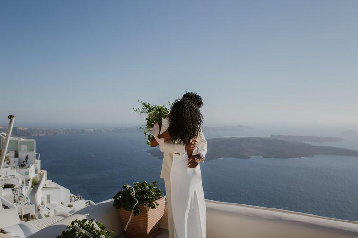 Elopement in Santorini, Greece