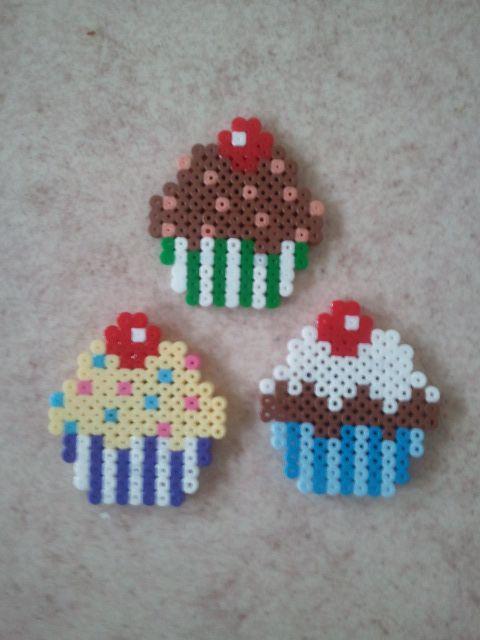 cupcakes hama perler beads