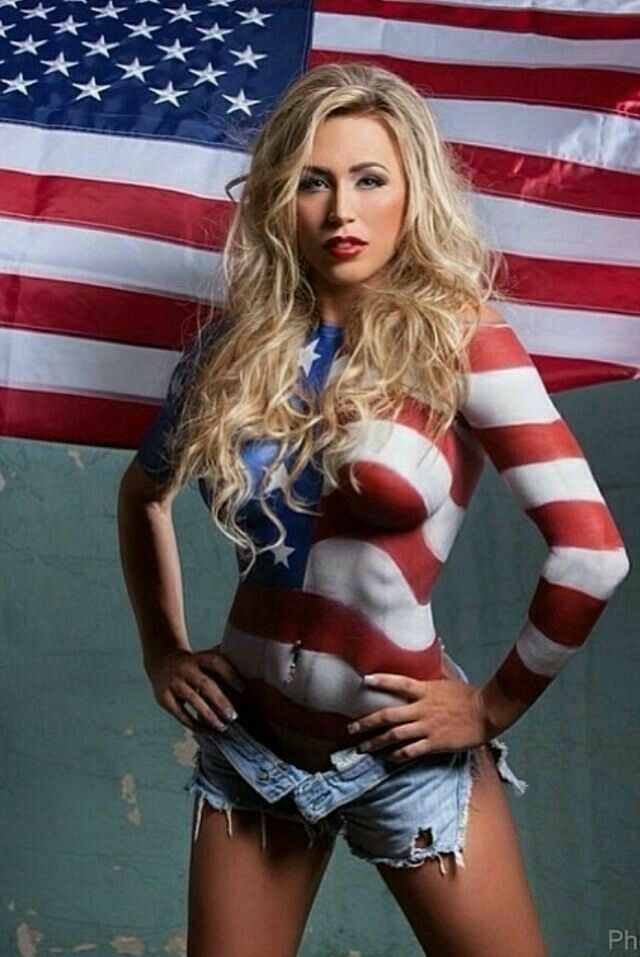Hot sexy women with american flag body paint, porno college girls