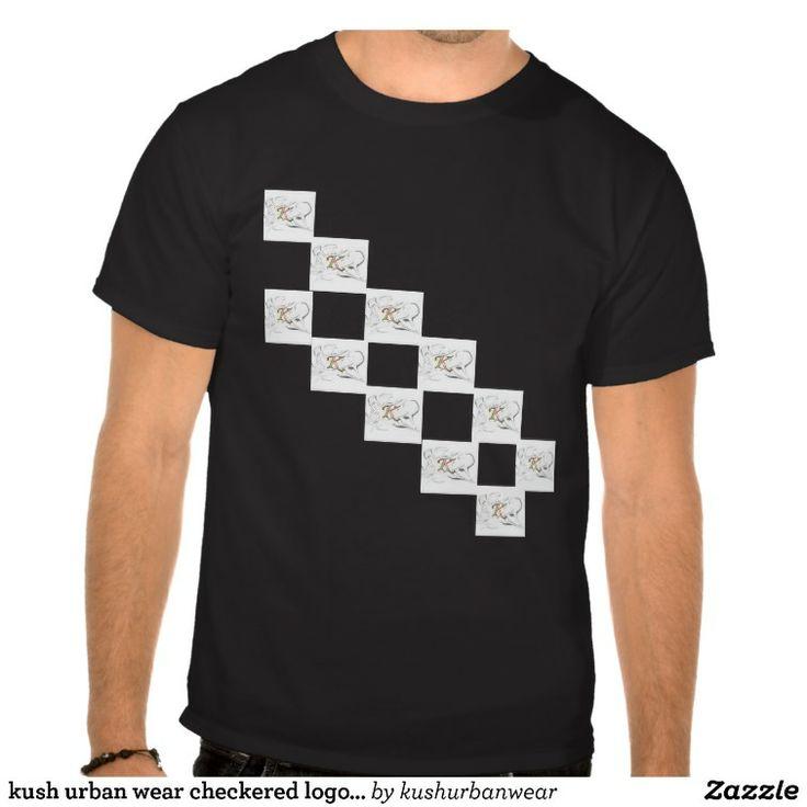 kush urban wear  checkered trademark logo desighn t-shirt v.2.1  http://www.zazzle.com/kush_urban_wear_checkered_logo_t_shirt_desighn_v2-235059264466754329