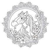 Diseño caballo hermosa — Vector de stock