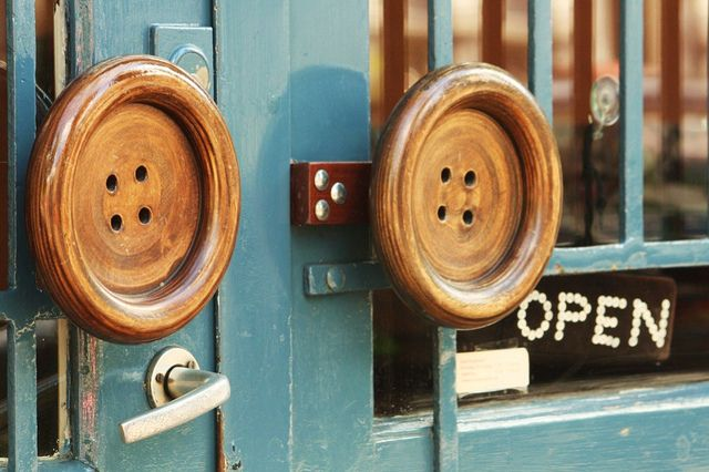 Great doors at the Button Shop, Amsterdam....