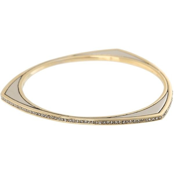 House of Harlow 1960 Modern Tribal Pave Bangle Bracelet, Multi (80 AUD) ❤ liked on Polyvore featuring jewelry, bracelets, multi, bangle bracelet, gold and silver jewelry, tribal jewelry, bangle jewelry and hinged bangle