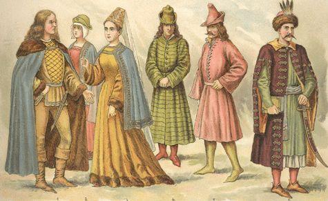 XIII. TÁBLA. Magyar viselet a XV. század első felében.  f23b07ee82