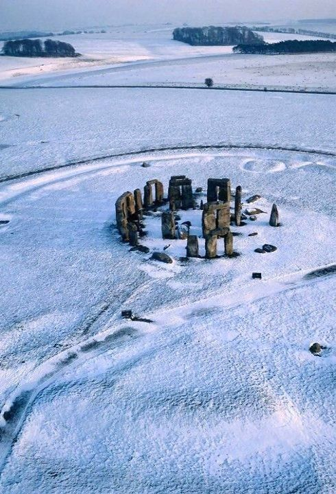 Stonehenge in winter, Wiltshire, England