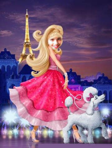 Fotoefecto Princesa Barbie gratis.: Cartoon Photos, Paris, Counted Cross Stitches, Fairies, Movies, Fairy Tales, Barbie