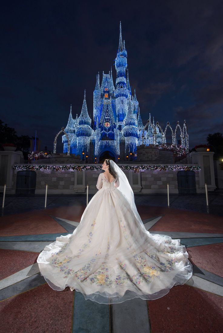 The Magic Kingdom to yourself for a portrait session? It was definitely a dream come true for Disney's Fairy Tale Wedding's couple Taylor and Tyler.