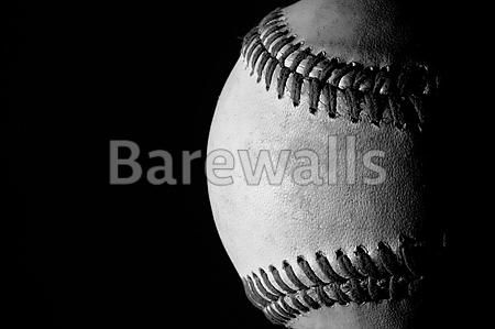 A used baseball on a black background baseball posters and prints available at