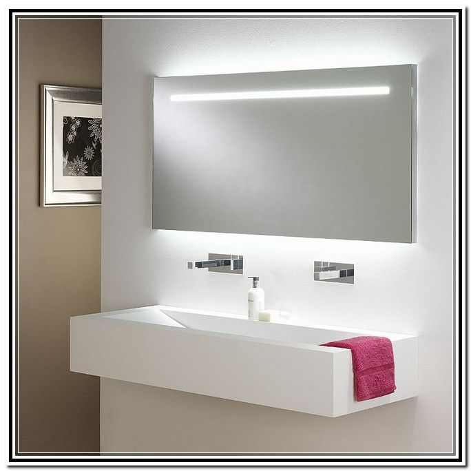 Bathroom Mirror With Lights Within Bathroom Mirror With Lights Home Decoration
