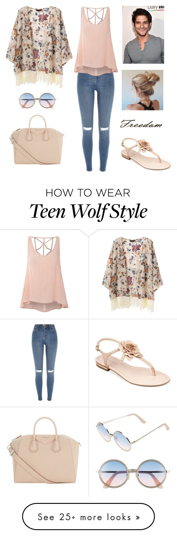 """Day out with Tyler Posey"" by adrianagallas on Polyvore featuring Givenchy, Sunday Somewhere, River Island, Glamorous and Marc Fisher"