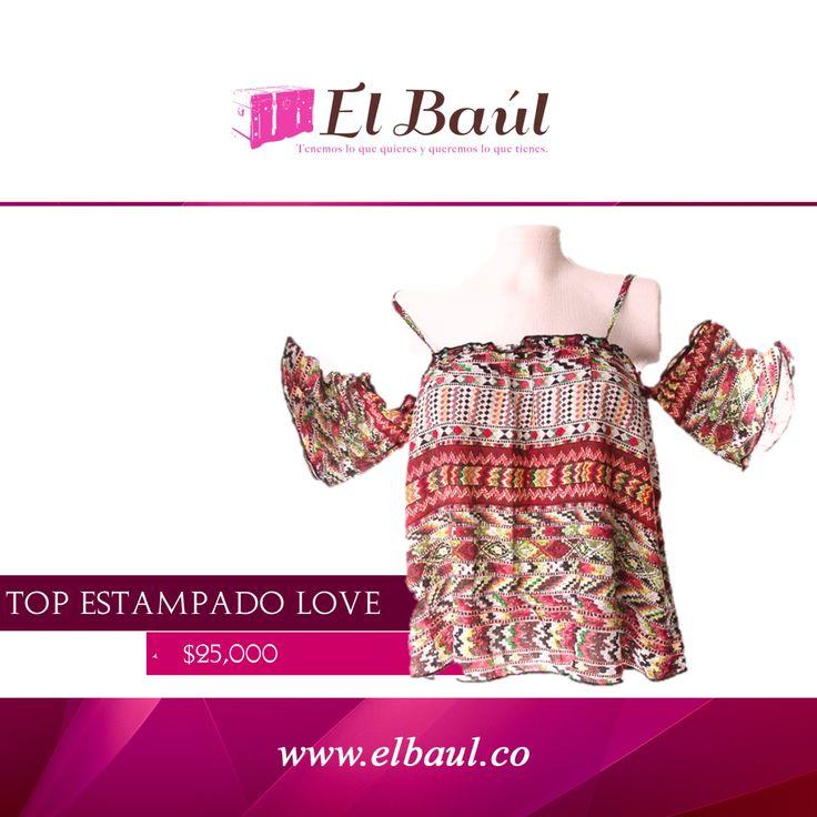 Top Love estampado, fresco, natural y energizante ! #sun #sol  $25,000 http://elbaul.co/Productos/41/Top-Love-estampado-