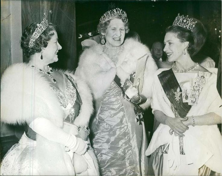 Princess Margaret, the Queen Mother and the Mistress of the Robes