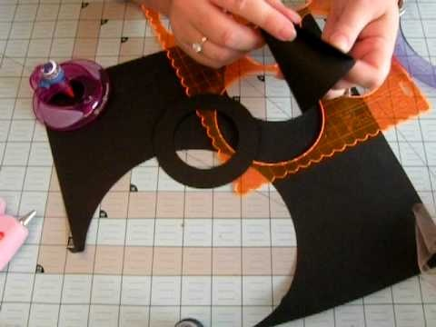 Halloween Witch Hat Treat Bags/ Glass Candy Toppers