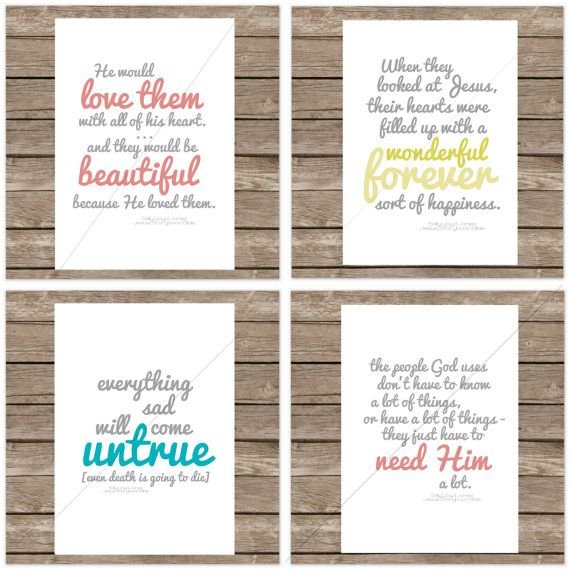 Jesus Storybook Bible Quotations Set of 7 by echoesofmercy on Etsy, $35.00