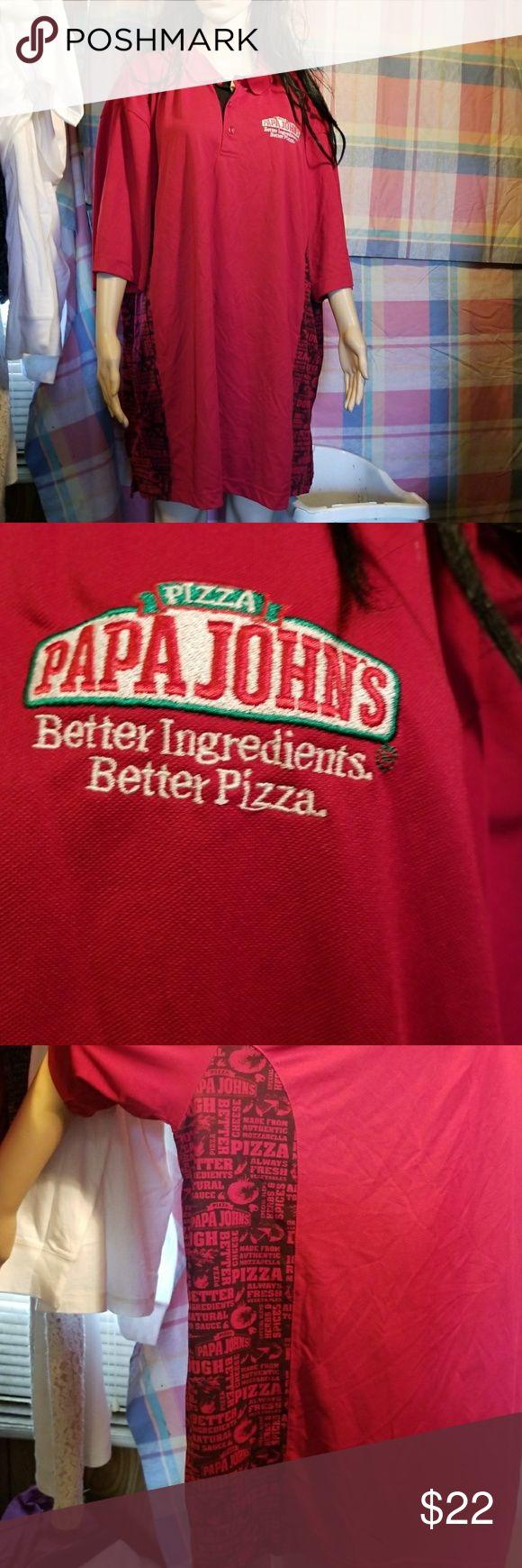 Poppa John's pizza shirt The size is 3X it is an official poppa John's shirt pullover The company sure Papa John's  Shirts Polos