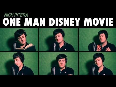 """One Man Disney Movie"" Nick Pitera - Disney Medley( his REAL voice promise!)"