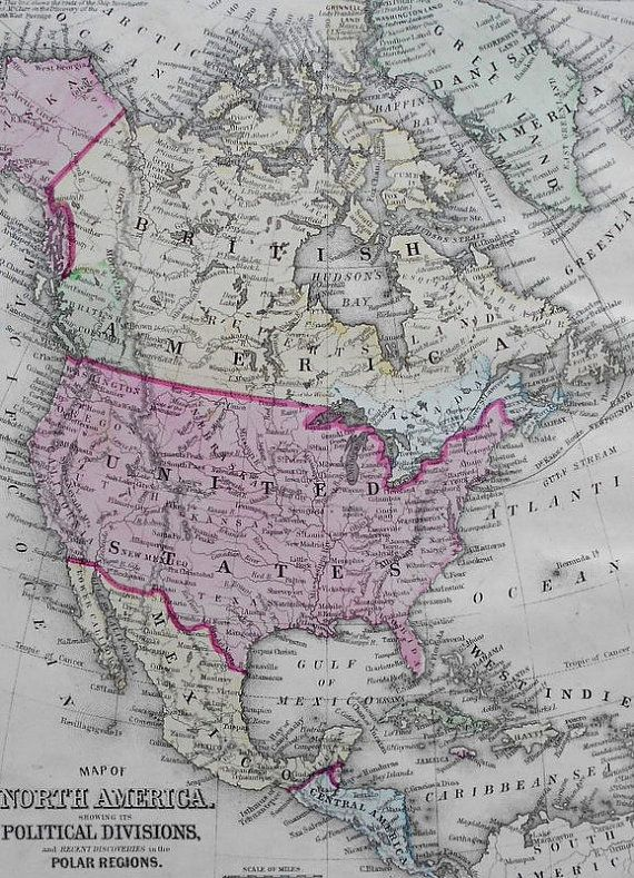 The Best Map Of North America Ideas On Pinterest Map America - Us canda greenland map with counties