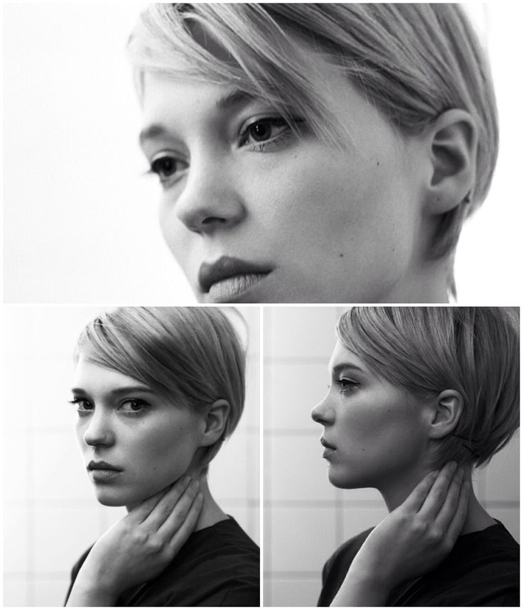 Short hair. Léa Seydoux by Eric Guillemain.