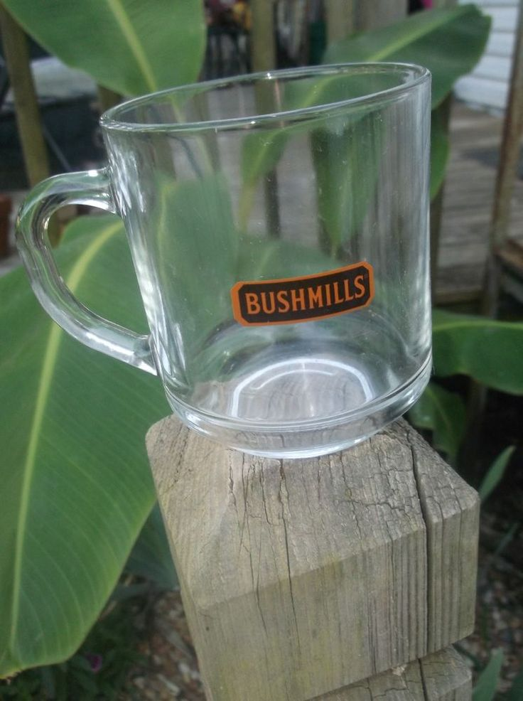 $4.96 or best offer Bushmills Luminarc Cup Irish Whiskey Clear Glass Coffee Mug Advertising Alcohol #Luminarc