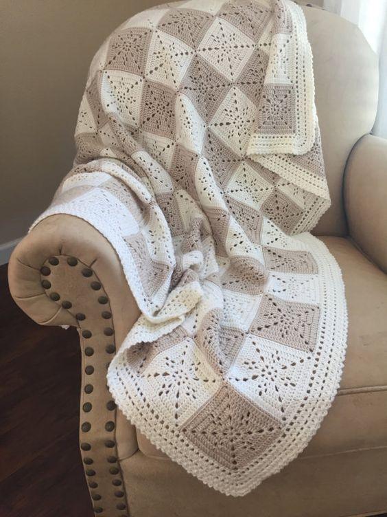 Gehaakte deken patroon - Arielle van vierkant - Baby deken - gemakkelijk oma vierkant - haak gooien Afghan - patroon door Deborah O