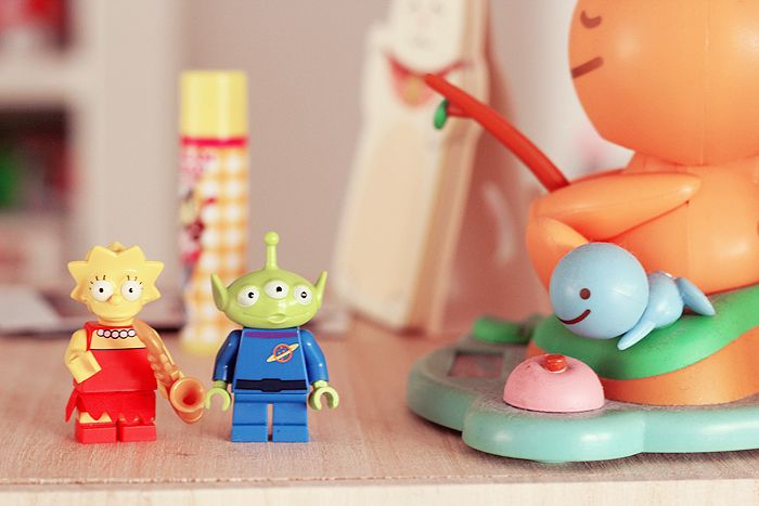 lego alien toy story and simpson