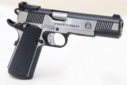 Mine: Springfield Armory 1911-A1 Loaded Black Stainless Target