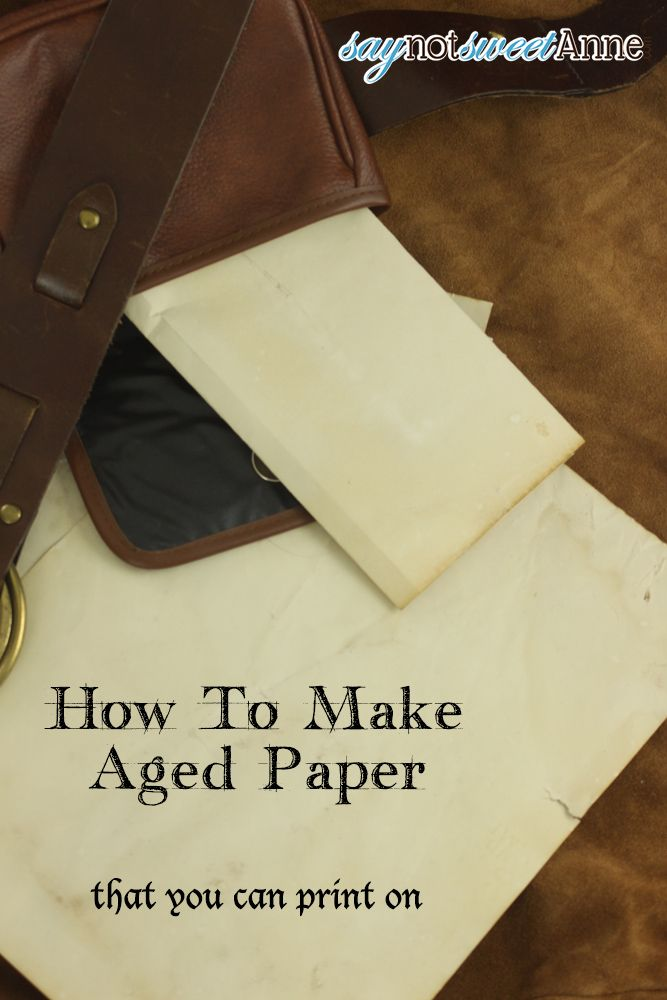 "With Halloween right around the corner (Hello!? What happened to August!?), Renaissance Festival season in full swing, and our DnD adventures winding up, hubby asked me for some aged paper. Now, ""paper"" has a long history. Papyrus was made in Egypt from the cyperus papyrus plant found along the Nile. Its use dates back …"