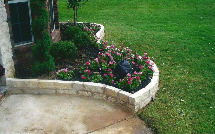 Brick landscape edging back porch pinterest trees for Brick edging for your flower beds