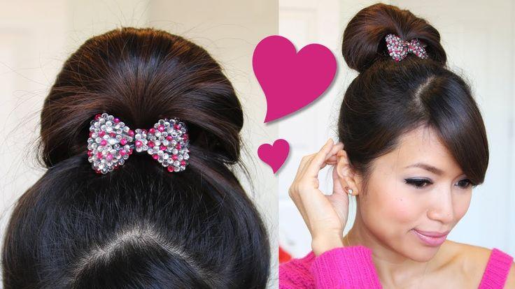 ♥ 1 Minute Perfect Fan Bun Updo Hairstyle   Hair Tutorial (+playlist)