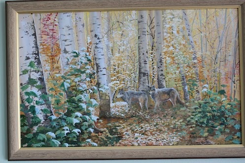 Timber Wolves in Autumn.
