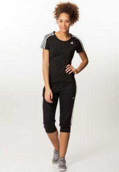 adidas Performance - T-shirt - bas - black/white