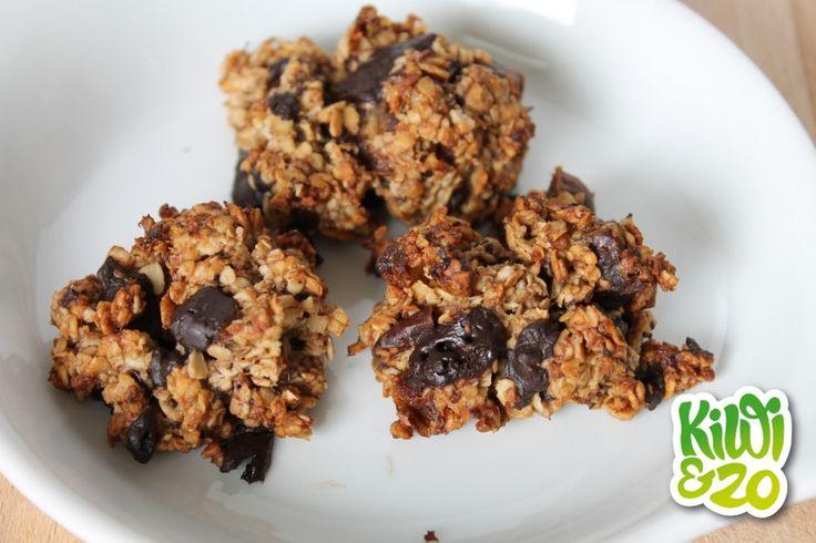 Gezonde chocolate chip cookies met havermout en banaan | Kiwi&zo, gezonde en goedkope recepten