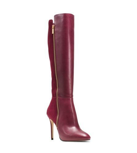 Michael Kors: Clara leather and suede boots for $295. Sexy boots with high heels. See more boots >>> http://justbestylish.com/the-best-boots-of-this-season/