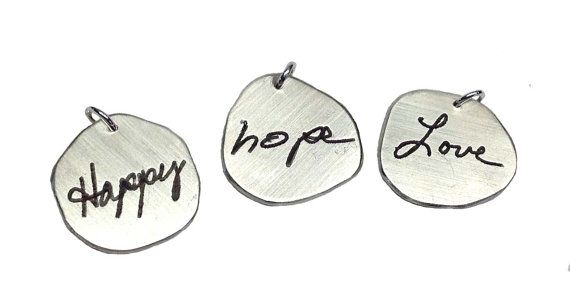 Actual Handwriting Charm Add-on by donnaodesigns by donnaOdesigns