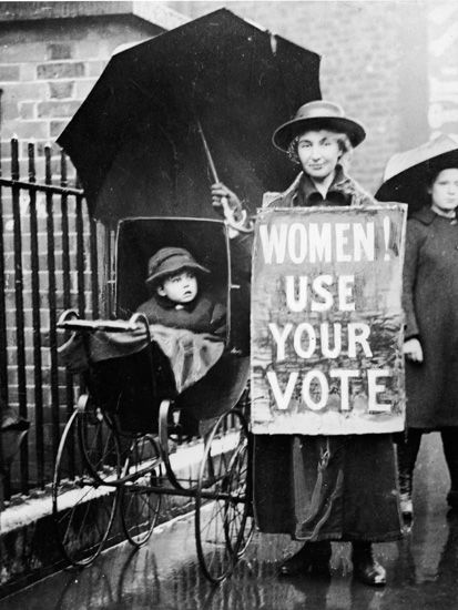 "Date of Origin: 1920's Women's suffrage became a large issue in the 1920's to 30's. Women had to fight for their rights to vote and even to be classified as 'persons' In 1916 Manitoba, Saskatchewan and Alberta gave women the provincial vote, later in 1917 Ontario and BC followed. In May of 1918 all Canadian women were granted the right to vote, except Quebec.   Anderson, Doris. ""Status of women."" The Canadian Encyclopedia. 2/07/06."