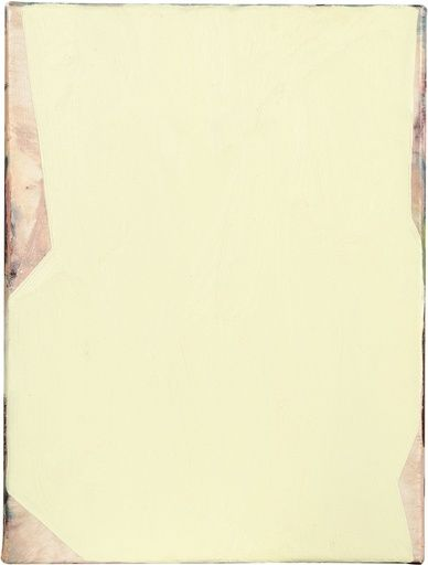 Mary Ramsden, Untitled (white), 2012, Oil on canvas 16 x 12 in (40.64 x 30.48 cm)