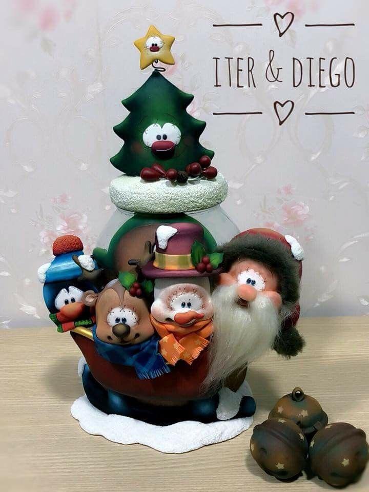 Pin De Yasmin De Leon En Porcelana Fría Arcilla De Navidad Manualidades Navidad Porcelana Fría Navidad