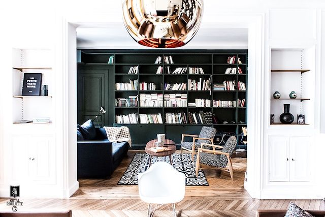 my scandinavian home: An inspiring French home with bold colour and patterns
