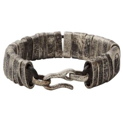 Diesel Brown Leather Strap Bracelet DX0535040. Available at £45.00 with worn effect Brown Leather and Hook clasp.