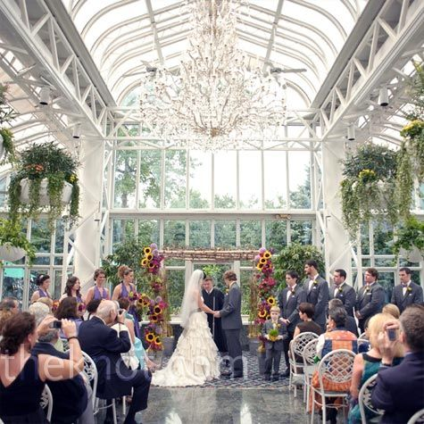 Sooo pretty!!!! I would love to get married in a greenhouse conservatory! It just seems so clean and pure!