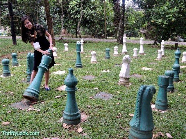 malagos garden resort, davao, park, chess board, chess, giant chess board,