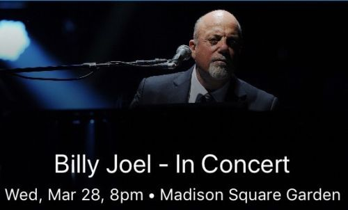 #tickets Billy Joel Tickets MSG 3/28/18 please retweet
