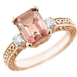 370ct Emerald Cut Peach Pink Morganite & by DiamondCANDYcom, $1690.00    duuuuuuuuuuuude